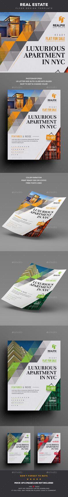 #Real #Estate #Flyer - Commerce Flyers Download here: https://graphicriver.net/item/real-estate-flyer/20441245?ref=alena994