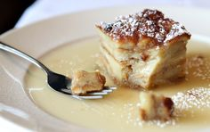 Here is a Bread Pudding recipe from LoRussos Cucina, the Italian restaurant close to the Hill in St. Louis.