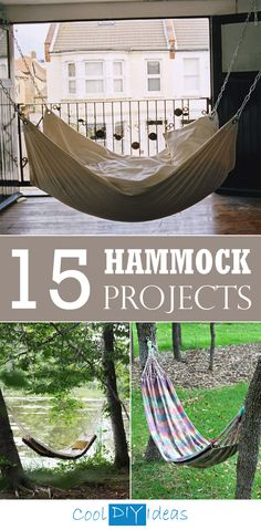 What's a better way to spend a lazy summer afternoon than hanging in a hammock you built yourself? Here are 15 fantastic DIY hammock projects.