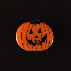 Halloween 2016 LED Light Pumpkins Brooch Party Halloween Decoration Pumpkin & Ghost Light Up Toys Halloween Party Favors Supply