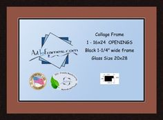 Art to Frames DoubleMultimat73376689FRBW26061 Collage Frame Photo Mat Double Mat with 1  16x24 Openings and Espresso frame -- Visit the image link more details. Note: It's an affiliate link to Amazon.