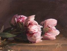 daily painting titled Market day peonies - click for enlargement