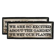 Wet Our Plants Wall Art