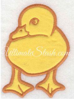Duck applique front view
