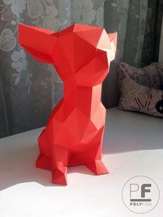 Chihuahua dog paper dog origami dog little dog pocket