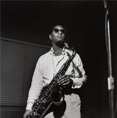 "Sonny Rollins, Hackensack, New Jersey, 1957  © Francis Wolff, 1957  Sonny Rollins, ""Newk's Time"" session, September 22, 1957. Image was used in"