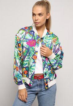 Vintage+Reversible+Patterned+Bomber+Jacket