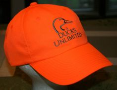 Ducks Unlimited Outdoor Cap orange baseball Hat, Men's size, hunting, fishing #DucksUnlimited #BaseballCap