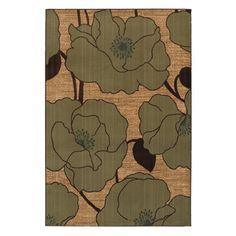 Modern Lilies Taupe Rug (8 x 10) Overstock