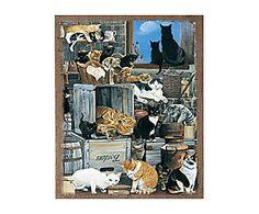 Pannello decorativo da parete gatti - 46x56x3 cm