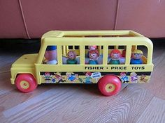 Fisher Price School Bus - the seats even bounced like the real thing when you rolled it across the floor Childhood Games, 90s Childhood, Childhood Memories, Fisher Price Toys, Vintage Fisher Price, Good Old Times, 80s Kids, Sweet Memories, Gift List