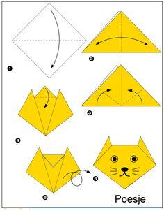 origami-poesje vouwen