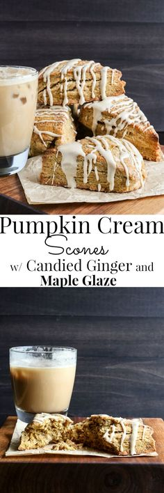Creamy and tender, packed with pumpkin and spices, these are my favorite Fall scone. | Vanilla And Bean