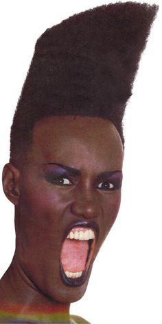 Grace Jones by Jean-Paul Goude for Slave To the Rhythm, 1985 (transparent)