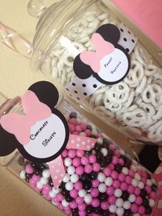 Minnie Mouse Babyshower Candy Buffet By Sweet Tooth Buffets www.Facebook.com/SweetToothBuffets