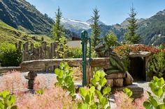 Alpengarten mit Gletscherblick Hotel Alpenhof, Spa, Mountains, Nature, Travel, Lawn And Garden, Naturaleza, Viajes, Destinations
