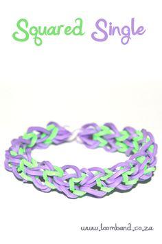 Squared single - Loom Band Bracelet Tutorial