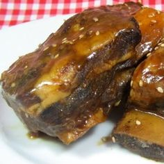 Crock pot Asian-Style Beef Short Ribs. I've made these many times and I guarantee you will love it! great over steamed rice.