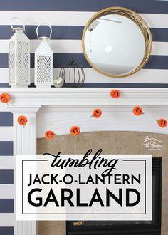 DIY Jack-O-Lantern Garland | The Homes I Have Made