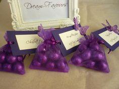 purple wedding favours - Google Search