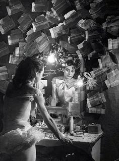 sealmaiden: Brassaï 1899-1984 Margot Fonteyn in tutu looking in the mirror of her dressing room, 1949