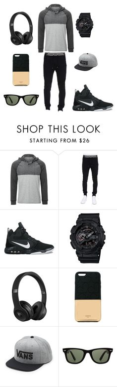 """""""going out"""" by nathanhaw0865 ❤ liked on Polyvore featuring Balmain, NIKE, G-Shock, Beats by Dr. Dre, Ports 1961, Vans, Ray-Ban, men's fashion and menswear"""