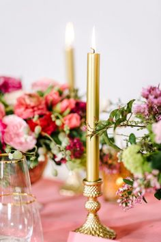 We'll take any excuse to dress to the nines, including a fancy dinner party filled with champagne and your best girlfriends. Inspired by the whimsy and glamour of Kate Spade, Glow Event Design + Na. Gerbera Daisy Centerpiece, Kate Spade Party, Glow, Bachelorette Party Decorations, Colorful Party, Bridal Shower Favors, Dinner, Inspired, Party Ideas
