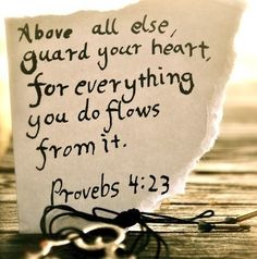 Above all else, guard your heart for everything you do flows from it.     -Proverbs 4:23  One of my good friends said this quote EVERYDAY!     It really means guard your Heart, because when your heart is corrupt so it the soul, mind, and body! Now Solomon was referring to the spirit, but this scripture relates closely to the purpose of the #NationalHeartMonth, which is bringing awareness to women about taking better care of our hearts!