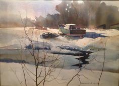Winter Lay-Up - Full Sheet Watercolor