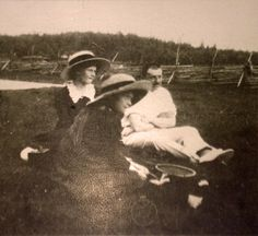 "Grand Duchesse Tatiana and Anastasia Nikolaevna Romanova of Russia with an officer in 1911-12. ""AL"""
