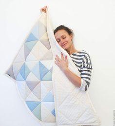 Текстиль, ковры ручной работы. Ярмарка Мастеров - ручная работа. Купить Одеяло для мальчика и лоскутный мишка. Handmade. Голубой