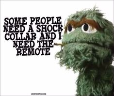 some people funny quotes quote funny quote funny quotes oscar the grouch sesame street AMEN!!!!!! | Humor and Funny Pics