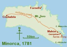 Minorca was part of the British Empire from 1708 to 1802.