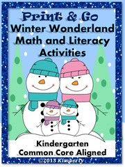 Print & Go Winter Wonderland Math and Literacy! Enter for your chance to win. Winter Wonderland Math and Literacy (Print & Go Common Core Aligned)  (45 pages) from By Kimberly on TeachersNotebook.com (Ends on on 12-31-2015) This set of WINTER themed activities are meant to supplement your teaching during the winter season and make this time of year a little less hectic and a little more fun (while still meeting K standards). Feel free to use the activities in any order you need. * Many…