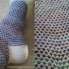 Broken Seed Stitch Socks by FitzBirch Crafts: Free Knitting Patterns Knitting Stitches, Knitting Designs, Knitting Socks, Knitting Patterns Free, Free Knitting, Knitting Projects, Stitch Patterns, Knit Socks, Bag Patterns