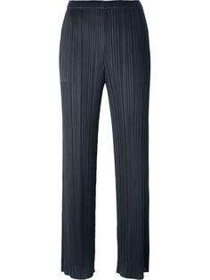 Pleats Please By Issey Miyake pantalon droit à design plissé