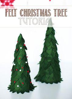 DIY Felt Christmas Tree : DIY Felted Christmas Tree