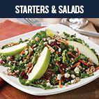 Starters & Salads at Silver Diner! Local Kale & Bleu Cheese Salad Farro, carrots, cranberries, citrus champagne vinaigrette, apple slices.