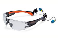 Most jobs that require eye protection also demand hearing protection. You get both with Soundshield safety glasses, by Bench Dog. This shatterproof eyewear has retractable foam earplugs (with a 25-decibel reduction rating) that stow in the ends of its temples. The polycarbonate lenses also block UV rays. $20; Rockler