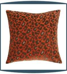 Wild Life Decorative Pillows in Persimmon by Michael Amini