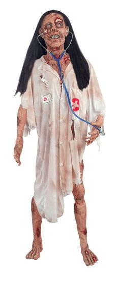 Check out World's End 2012 Life Size Zombie Lady With Doctor's Outfit - ShopYourWay