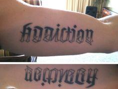 """Addiction"" ""Recovery"" Tattoo"