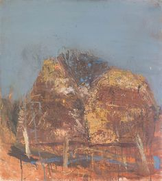 Cornstacks by Joan Eardley Landscape Artwork, Abstract Landscape, Abstract Geometric Art, Art Challenge, Cool Artwork, Painting Inspiration, Painting & Drawing, Modern Art, Collages