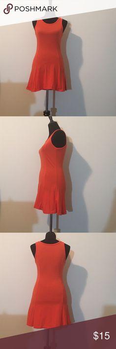 Orange dress Orange dress sleeveless top short bottom length mini size small None Dresses Mini