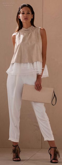 Brunello Cucinelli Spring 2015 | Sporty AND Feminine. So Cute!