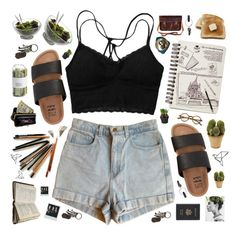 """""""Nuclear Seasons"""" by catsinparis ❤ liked on Polyvore featuring American Apparel, Billabong, Nambé, Zatchels, PA Design, Nearly Natural, Crate and Barrel, AllSaints, AmeriLeather and Royce Leather"""