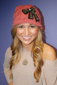 cute beanie and awesome website