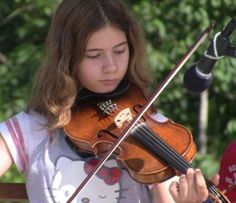 Stephanie Flowers in the Youth Fiddle Contest at the 10th Annual Morehead Old Time Music Festival in Morehead, Kentucky July 25, 2015  www.MoreheadOldTime.com  Video by David Slone