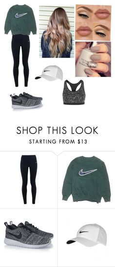 """""""Everyday sporty outfit"""" by rebeccaball37 on Polyvore featuring NIKE, NYX, women's clothing, women's fashion, women, female, woman, misses and juniors"""