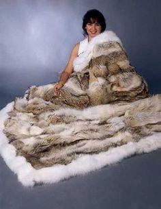 Coyote Fur Blanket--I want one!